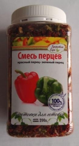 Смесь перцев 'Здоровая еда' в ПЭТ-банке, 200г