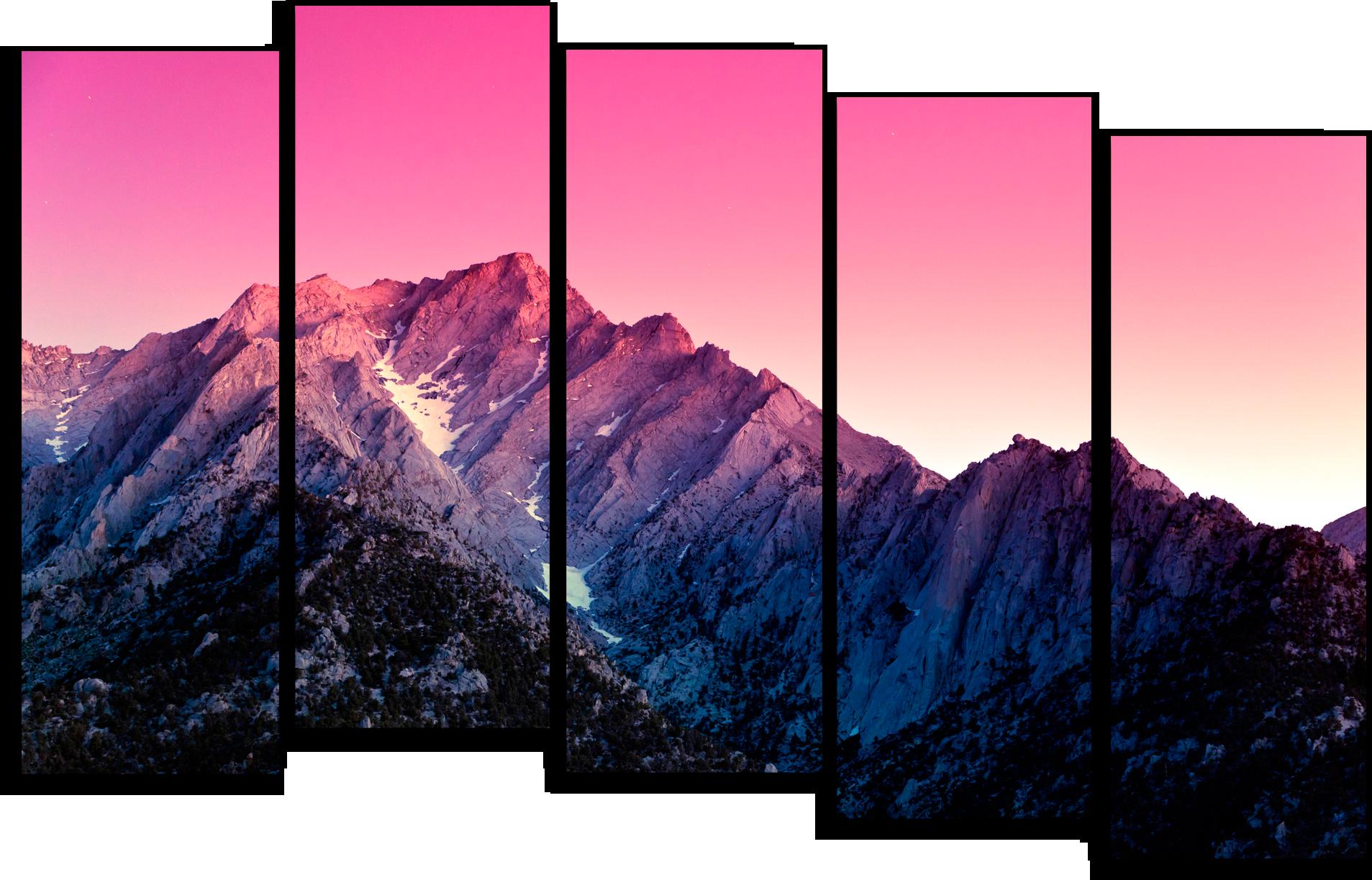 """Модульные картины Модульная картина """"Утро над горами"""" М73.png"""