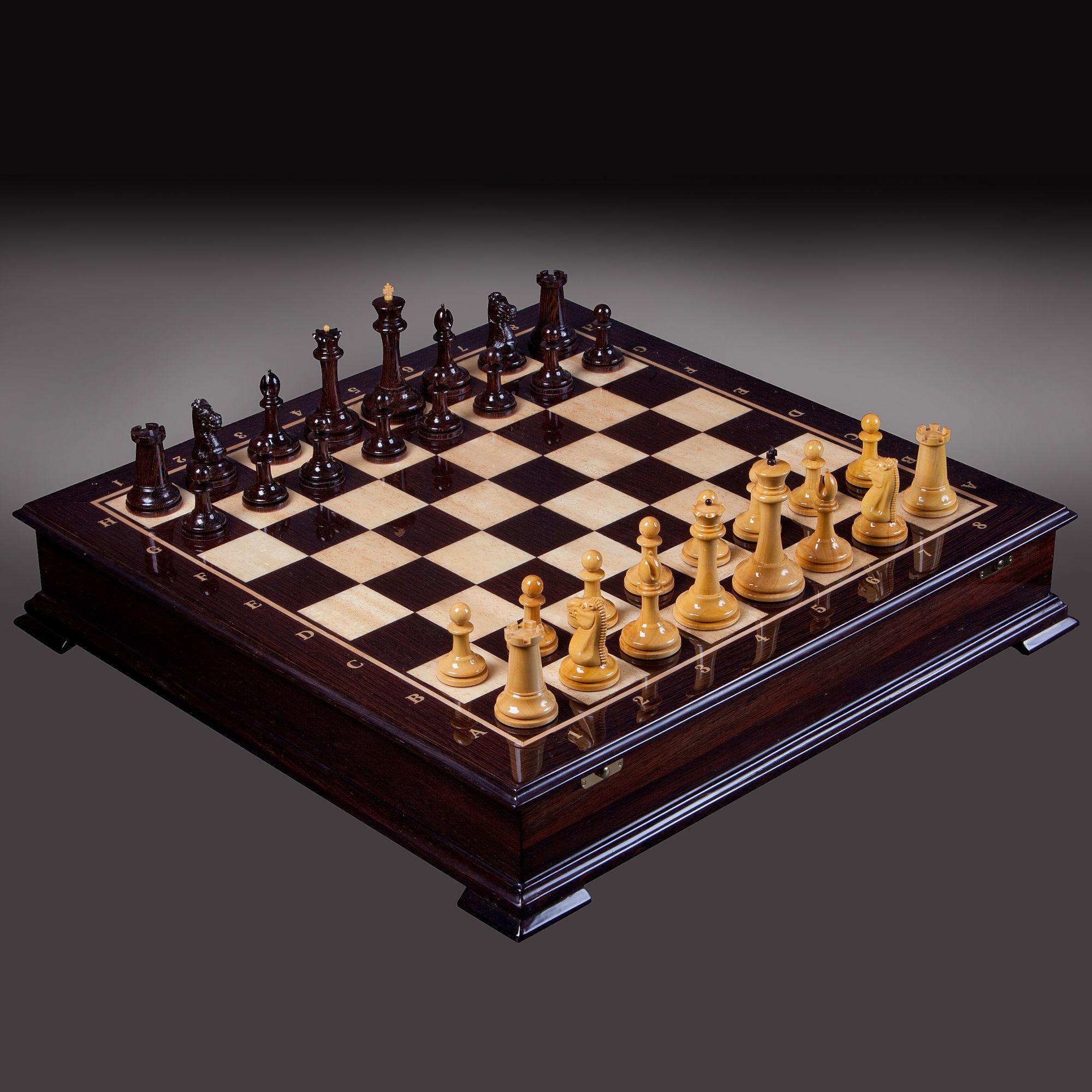 Шахматы «Стаунтон» Самшит-Венге классические