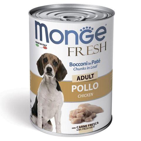 Monge Dog Fresh Chunks in Loaf Консервы для собак мясной рулет из курицы (банка)