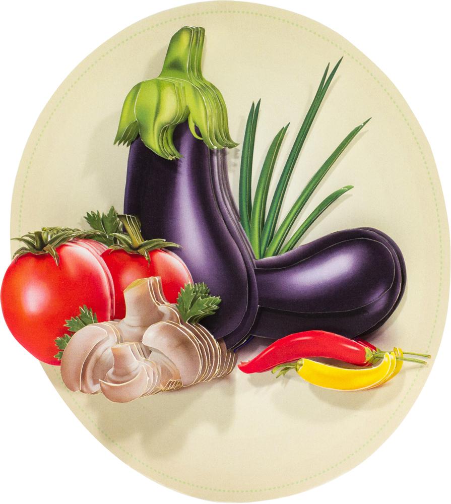 Папертоль Натюрморт с овощами — готовая работа, вид сбоку.