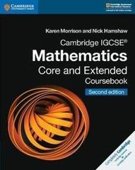Cambridge IGCSE® Mathematics Core and Extended Coursebook