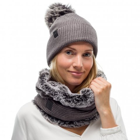 Модный шарф-труба Buff Neckwarmer Knitted Comfort Kesha Grey фото 2