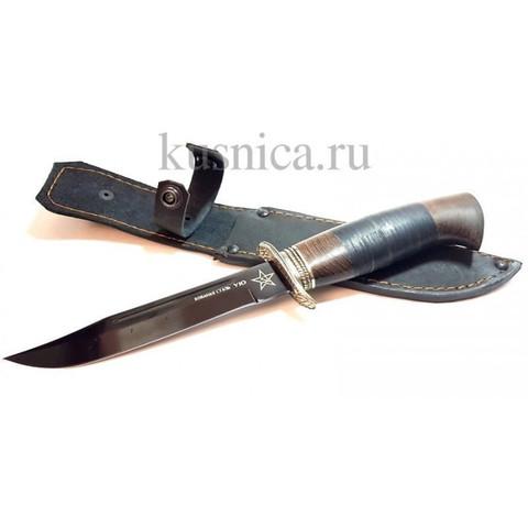Нож Штрафбат, кованная сталь Y10, рукоять венге, кожа