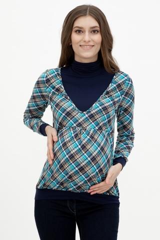 Водолазка для беременных и кормящих 08021 синий