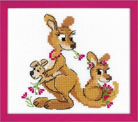 Набор для вышивания крестом «Где гуляли кенгуру» (1786)