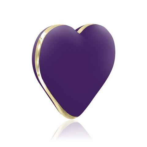 Фиолетовый вибратор-сердечко Heart Vibe