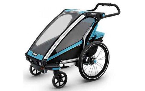 Картинка коляска Thule Chariot Sport2 голубая  - 2