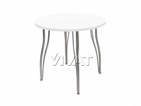 Стол обеденный круглый LС (ОС-12) Белое дерево