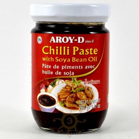 Паста чили с соевым маслом Aroy-D, 260г