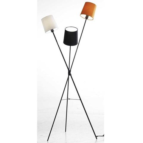 Лампа напольная Dexter, белый, черный и оранжевый абажуры