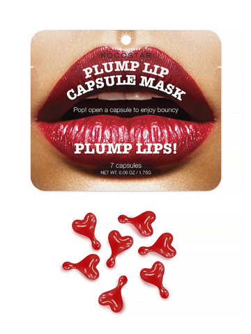 Kocostar Капсульная Сыворотка для увеличения объема губ (7 капсул)/ Plump Lip Capsule Mask Pouch