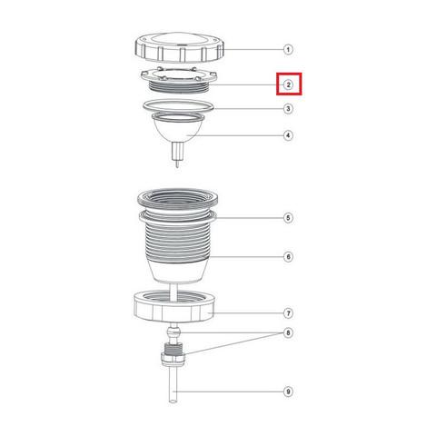 Прижимная гайка лампы для прожектора Aquaviva LED/UL-P50 Lights / 11880