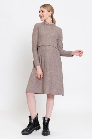 Платье для беременных и кормящих 12964 меланж