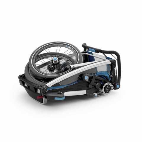 Картинка коляска Thule Chariot Sport2 голубая  - 3