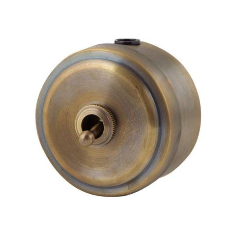 Выключатель металлический 1 клавишный тумблерный (Бронза)
