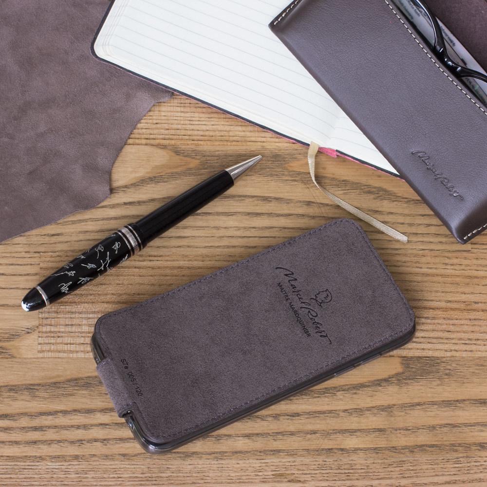 Чехол для Samsung Galaxy S7 из натуральной кожи теленка, темно-коричневого цвета