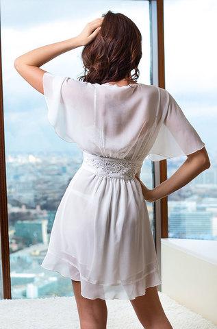 Женский халат из шифона MIA-MIA Venera Венера 17303 белый