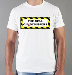 Футболка с принтом Охотники за привидениями (Ghostbusters) белая 0011