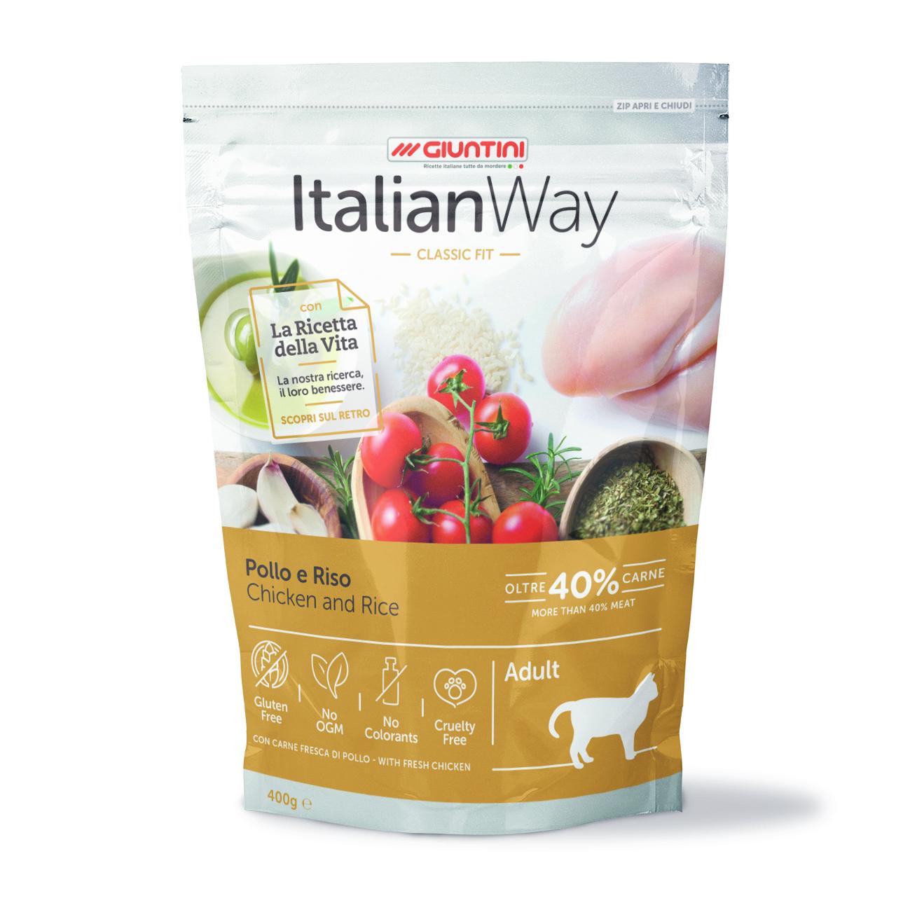 Italian Way Сухой корм для кошек ITALIAN WAY с курицей и рисом 36588.jpg