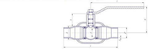 Конструкция LD КШ.Ц.П.125.025.П/П.02 Ду125 полный проход