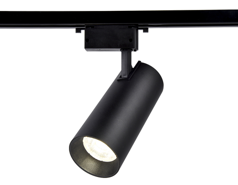 Трековый однофазный светодиодный светильник GL5859 BK черный LED 20W 4200K 24°