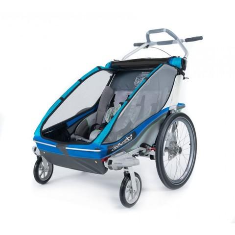 Картинка коляска Thule Chariot Sport2 голубая  - 4