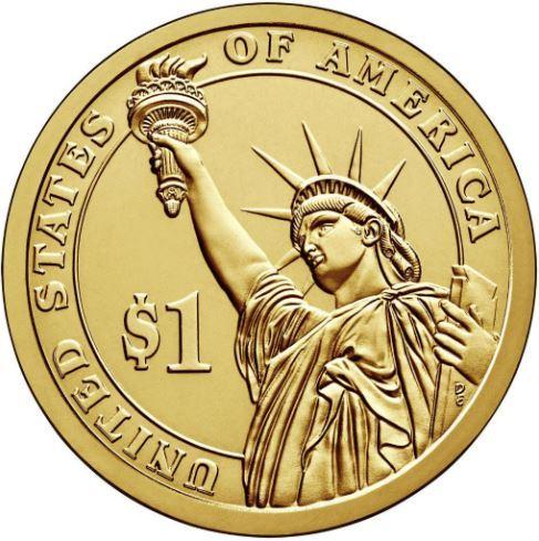 1 доллар 30-й президент США Калвин Кулидж 2013 год