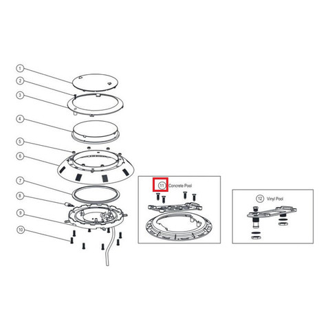 Крепление для прожекторов Aquaviva LED/UL-P100 под бетон / 11894