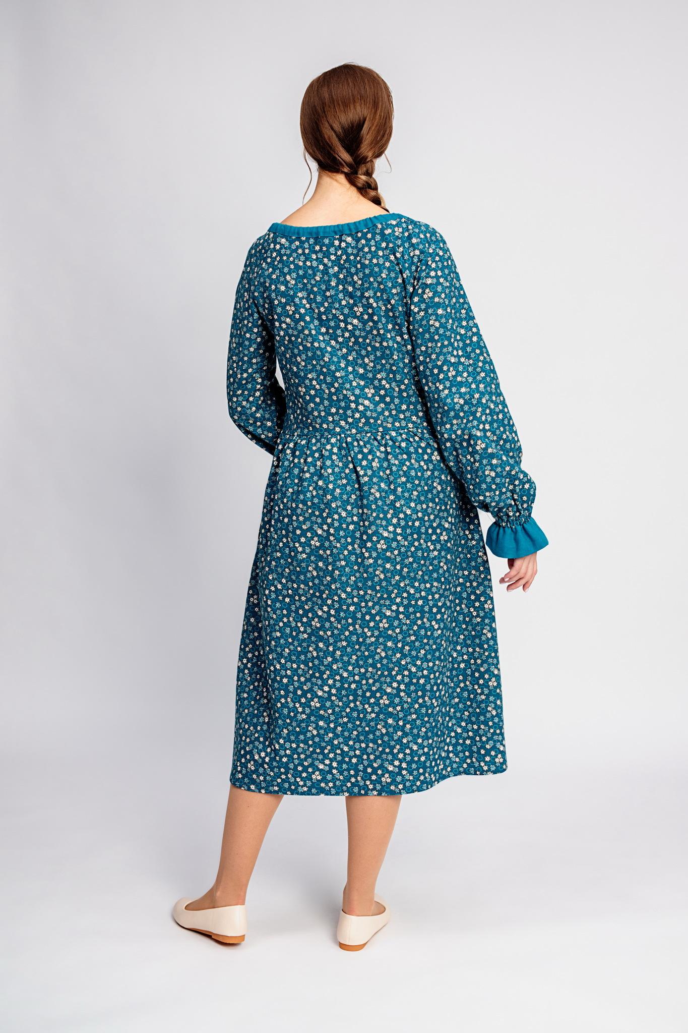 Платье на зиму Бирюзовая Катунь