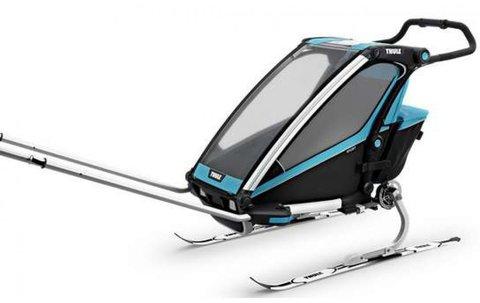 Картинка коляска Thule Chariot Sport2 голубая  - 5