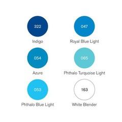 Набор маркеров Pigment Marker 6шт оттенки голубого