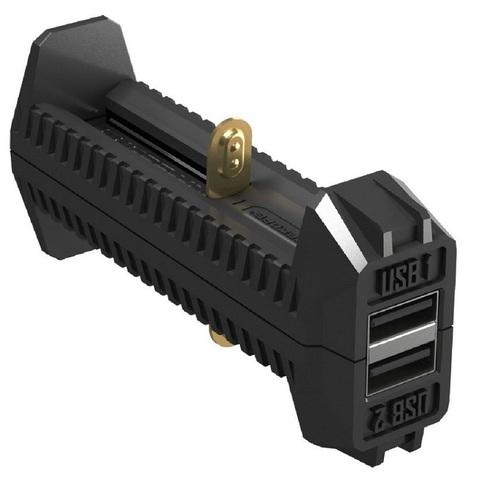 Зарядное устройство Nitecore F2 new с функцией Power Bank, для 18650