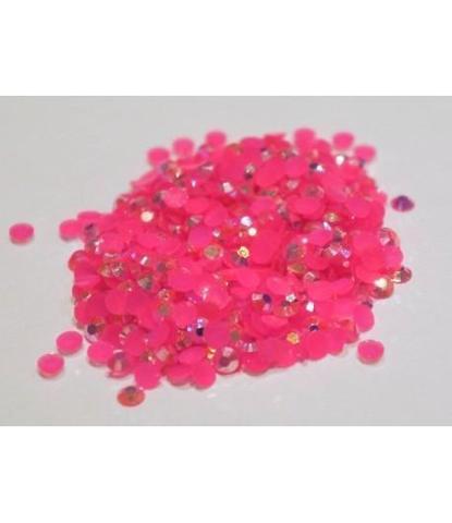 149 стразы круглые розовые 300 шт