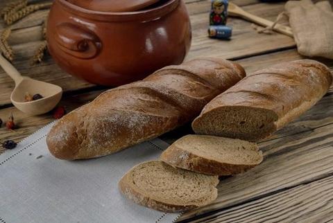 Ржано-пшеничный хлеб Багет Целебный Отрубной Пекарня Дон Батон 0,33кг