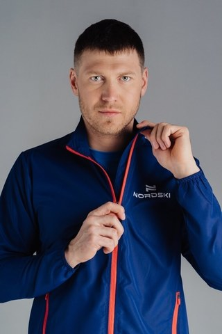 Ветровка Nordski Motion Navy/Red мужская