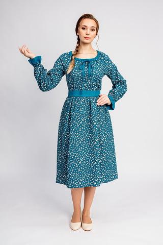 Платье на осень Бирюзова Катунь