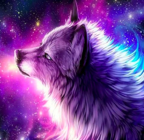 Алмазная Мозаика 40x50 Сказочный волк (арт. GA72963)