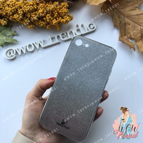 Чехол iPhone 7/8 Swarovski Case /black/