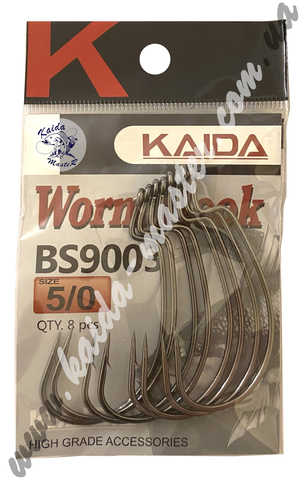 Крючки офсетные Kaida Worm Hook 1