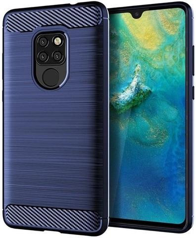 Чехол для Huawei Mate 20 цвет Blue (синий), серия Carbon от Caseport