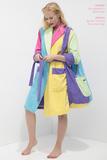 Разноцветный женский махровый халат Luna di Giorno