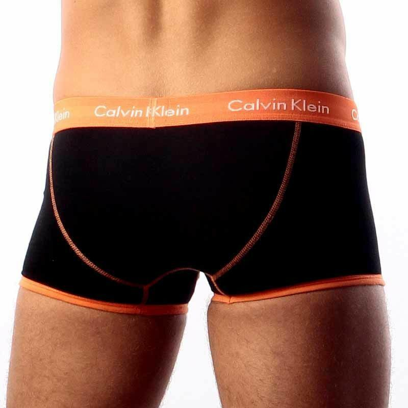 Мужские трусы хипсы Calvin Klein 365 Black Orange
