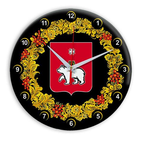 Часы в стиле Хохлома сувенирные Пермь 3