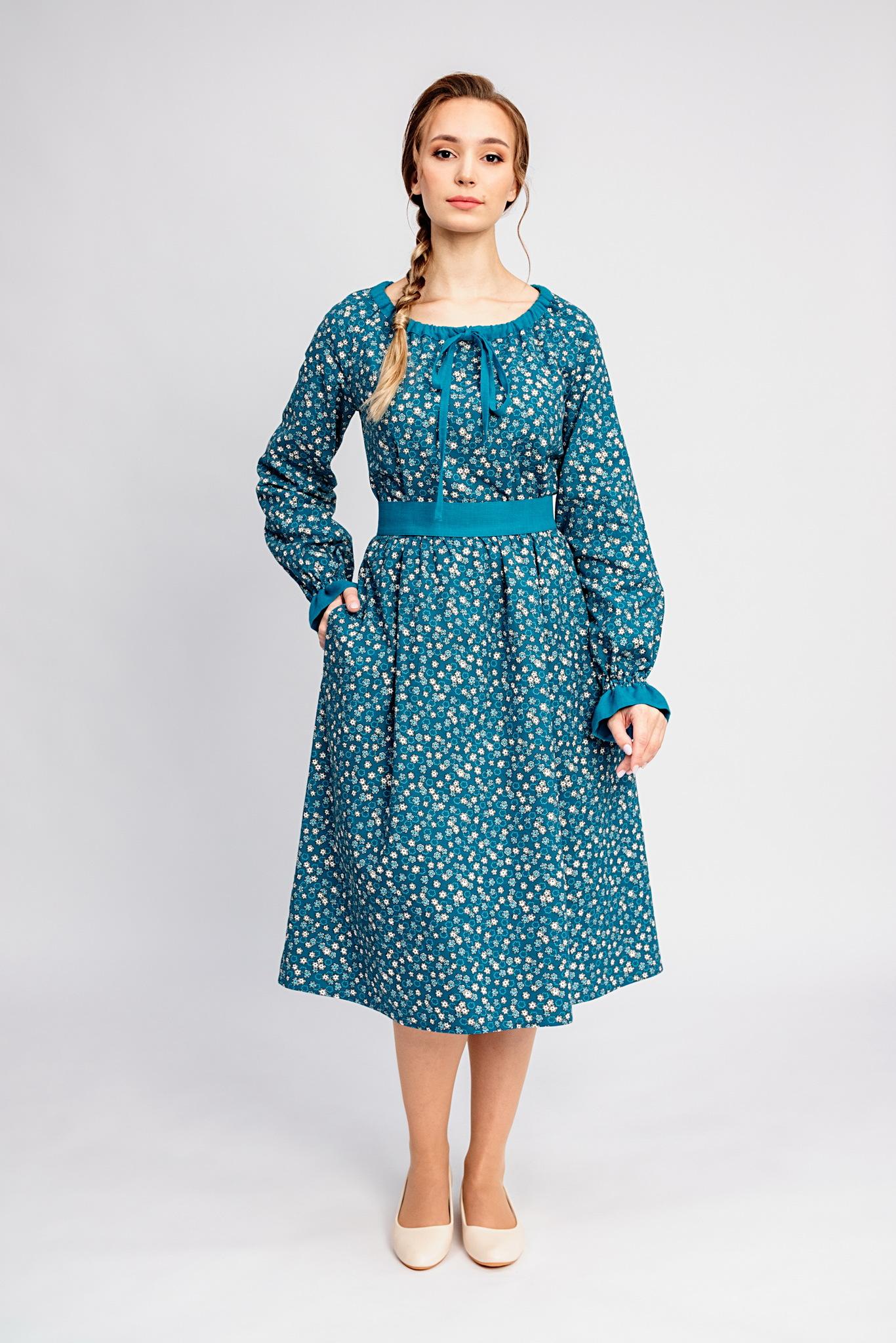 Платье на весну Бирюзовая Катунь