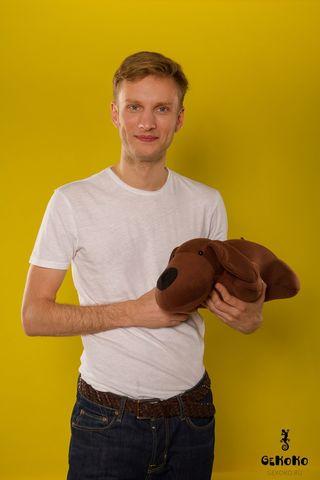 Подушка-игрушка антистресс Gekoko «Мохнатый Патрик Коричневый»
