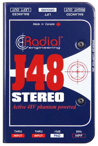 Radial J48 Stereo активный двухканальный директ-бокс