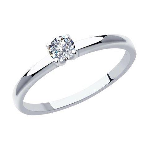 1012030 - Кольцо из белого золота с бриллиантом