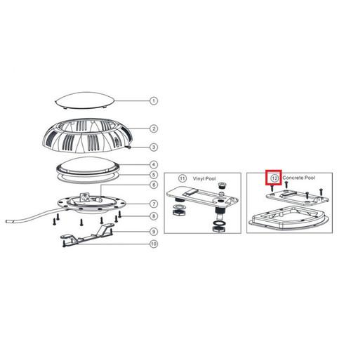 Крепление для прожекторов Aquaviva LED/UL-TP100 под бетон / 11902
