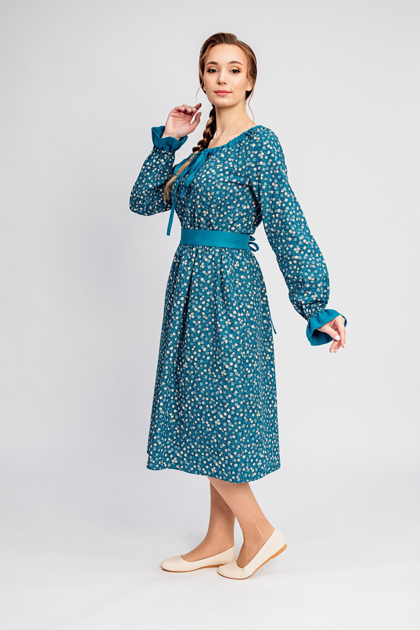 Платье на холодное лето Бирюзовая Катунь